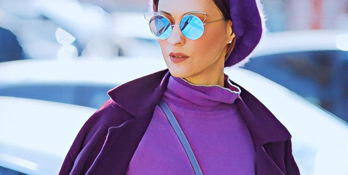 Любители фиолетового цвета