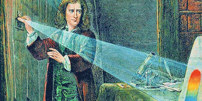 Спектр радуги сэра Исаака Ньютона